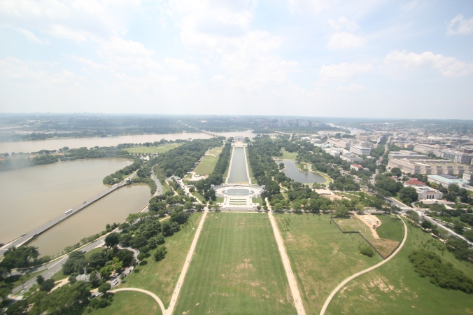 View of the Lincoln Memorial from the WA Monument